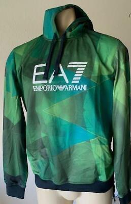 EMPORIO ARMANI EA7 Men's Green Graphic Performance Hoodie Size Small NWT $200