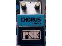 2 Guitar pedals.(1) GEN analog vintage PSK Chorus(2) FREE GUITAR MULTI EFFECTS UNIT UNUSED AND BOXED