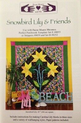 Snow Bird Lily & Friends Quilt Pattern by From Marti and Me