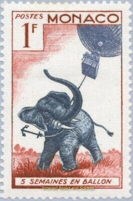 EBS MONACO 1955 - African Elephant with Balloon! -  YT 427 MNH**