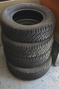 winter tires M & S 205/70/14 - 4 tires in good condition