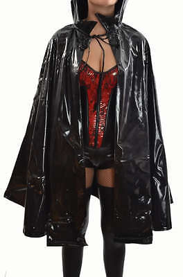 Underworld Vampire Halloween Costume (VINYL COSTUME VAMPIRE GOTHIC PVC VAMP COAT JACKET UNDERWORLD CAPE HALLOWEEN)