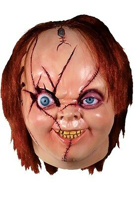 Halloween Costume BRIDE OF CHUCKY VERSION 2 Latex Deluxe Mask Haunted House NEW - Bride Of Chucky Costumes