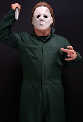 MICHAEL MYERS: HALLOWEEN best Deluxe adult costume~Mask, Coveralls & Knife~New - Best Man Halloween Costume