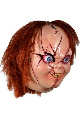 Halloween BRIDE OF CHUCKY VERSION 2 Latex Deluxe Mask TOT's Officially Licensed