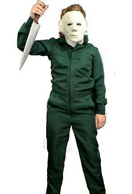 TRICK OR TREAT Child Halloween 2 Deluxe Coveralls Michael Myers Costume TTUS123 (Halloween Michael Myers Kid)