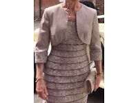 Ispirato. Mother of the Bride outfit. Taupe. Size 10.