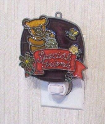 SPECIAL FRIEND TEDDY BEAR NIGHTLIGHT ( CHRISTMAS GIFT SUNCATCHER NIGHTLIGHT)