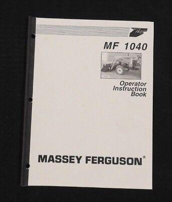 Massey-ferguson 1165 1445 1455 1455v Tractor Mf 1040 Loader Operators Manual