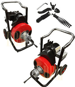 1 2 Snake 50 39 Ft Electric Drain Auger Cleaner Cleaning