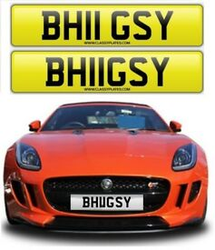 BHUGSY - BHIGSY private number plate cherished number plate personalised reg no BH11GSY