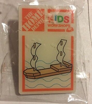 NEW HOME DEPOT KIDS WORKSHOP TABLETOP SHIP BOAT PIN COLLECTIBLE RARE COLLECTORS