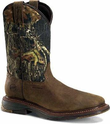"Double-H® 12"" Field Flex Wide Sq Toe Roper Western Camo WP Work Boots Size 10.5"