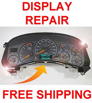 99-02 Chevy Silverado Speedometer Instrument Gauge Cluster LCD Display REPAIR