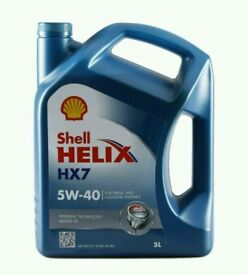SHELL HELIX HX7 5W40 5 LITRE FOR DIESEL AND PETROL GASOLINE ENGINES