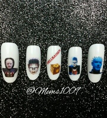 Halloween Monster Nails (Monster Nail art (water Decals) Monster nail decals Halloween Nail Art)