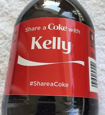 Share a COKE with Kelly 20 fl oz Collectible Bottle Rare Coca-Cola HTF Name