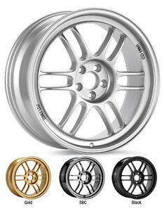 ENKEI-RPF1-14x7-Racing-Wheel-Wheels-4x100-ET19-28-F1-Silver