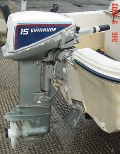 ***WANTED*** 15hp Johnson or evinrude parts motor outboard