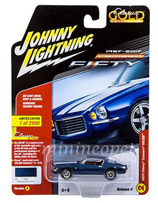 Johnny Lightning Jlcp7057 B 1970 Chevrolet Camaro Rs Ss 1 64 Fathom Blue Poly
