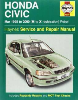 Honda Civic Petrol 1995 - 2000 Haynes Owners Service & Repair Man