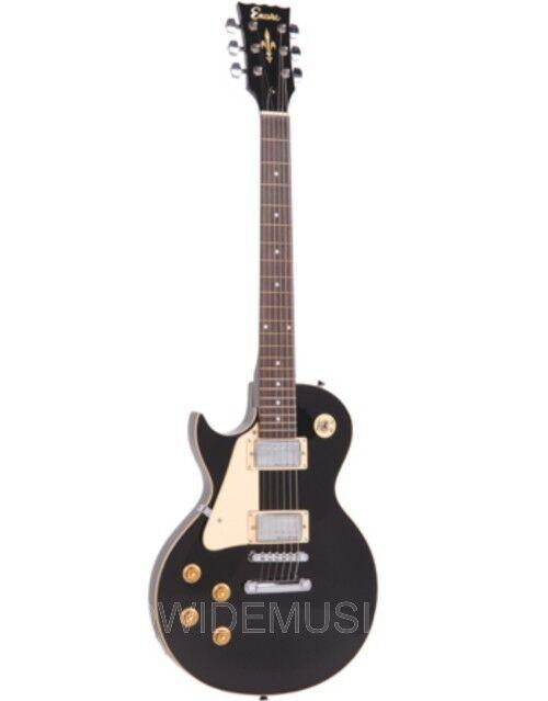 Encore LH-E99 BLK Les Paul Left Handed Electric Guitar Package - Gloss Black