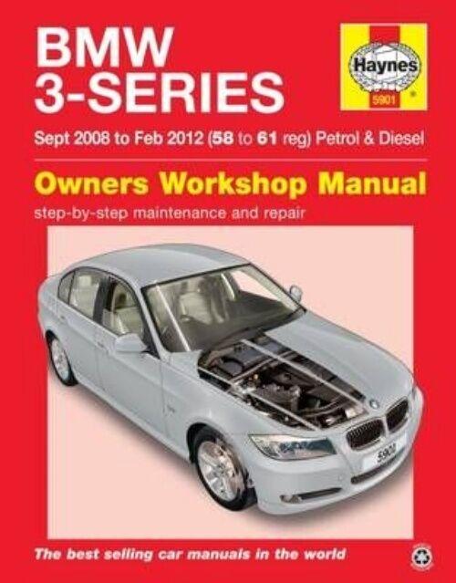 Haynes Manual BMW 3 Series 2008-12 2.0 3.0 Petrol & Diesel Workshop Manual