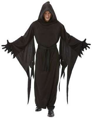 Adult Black Terror Robe Halloween Costume One Size Evil Wicked Goth ()