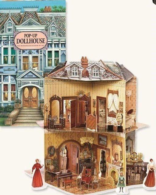 Kupit Victorian Pop Up Dollhouse Book Three Dimensional Free Ship