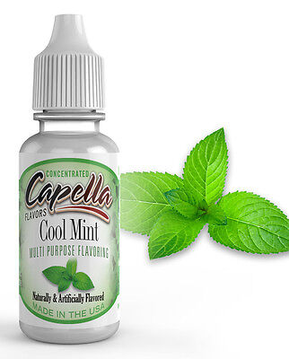 Capella Flavoring Cool Mint Flavor Concentrate 13ml Vape protein shake water