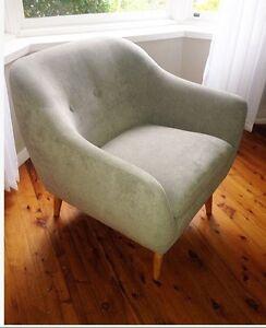 Brigitta pale grey micro fibre armchairs x2 Wyoming Gosford Area Preview