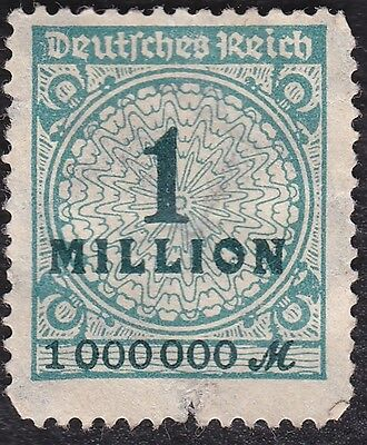 N0 943A  -1923 -  German Reich - Sarrate Roulette - 1 Million Stamp - Blue  -
