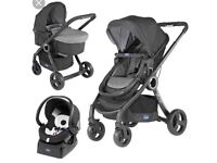 Chicco Urban Plus Travel System Used Pram - Car Seat - Base - Push Chair. Used in good condition