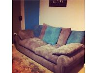 Scs grey and teal 2 and 3 seater sofas