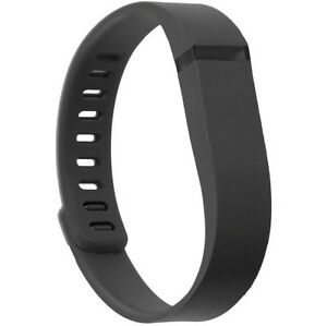 Black fitbit flex with 2 adjustable straps and charging cable
