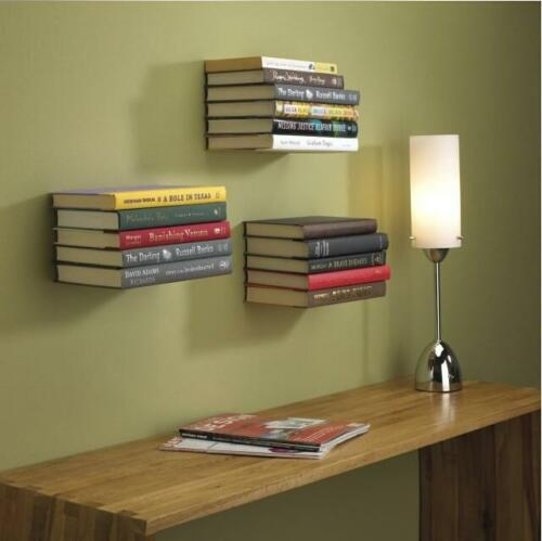 3pc Conceal Invisible Bookshelf Wall Mounted Floating Book Shelf Shelves Storage