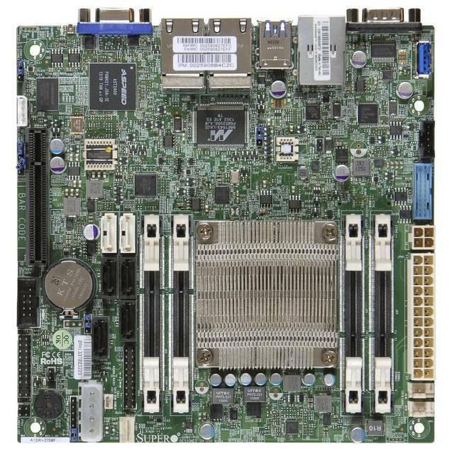 Supermicro A1sri-2558f-b Intel Atom C2558/ Ddr3/ Sata3usb3.0/ V&4gbe/ Mini-itx