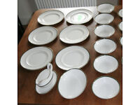 Royal Doulton Osford Green bone china dinner service