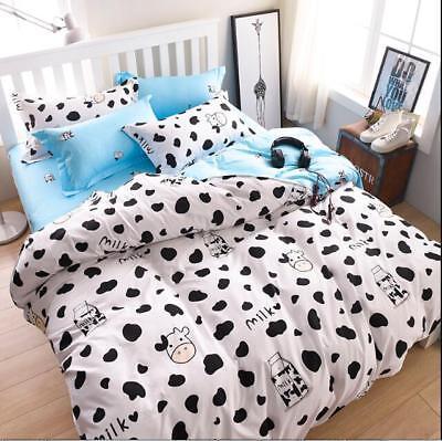 Black white Cow Bedding Duvet Cover Set  Quilt Cover Single Double King