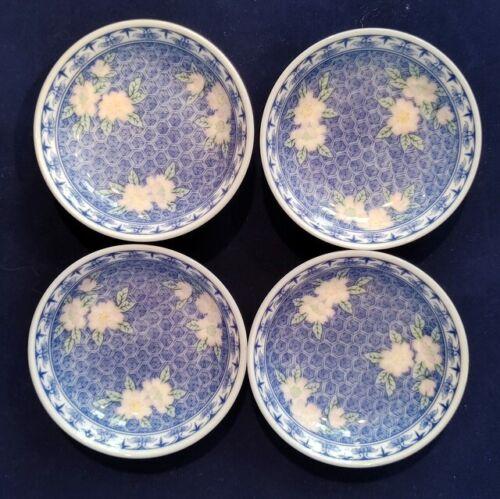 MATCHING SET OF 4 VINTAGE JAPANESE PORCELAIN SAUCE DIPPING BOWLS