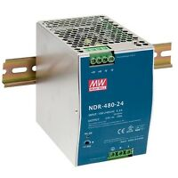 1 Pz Ndr-480-24 Alimentatore Switching Slim 480w 24vdc 24÷28vdc 20a 1,5kg Mean W -  - ebay.it