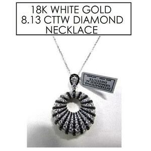 NEW STAMPED 18K DIAMOND NECKLACE JEWELLERY - JEWELRY - 18K WHITE GOLD - 8.13 CTTW 101763459