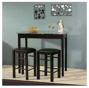 breakfast bar counter height set high table kitchen padded chairs nook