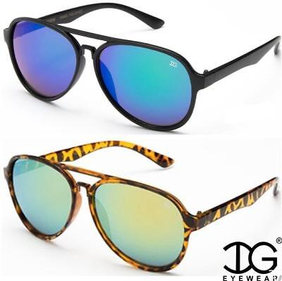 DESIGNER PILOT MIRRORED SUNGLASSES RETRO BROW BAR MIRROR SMA