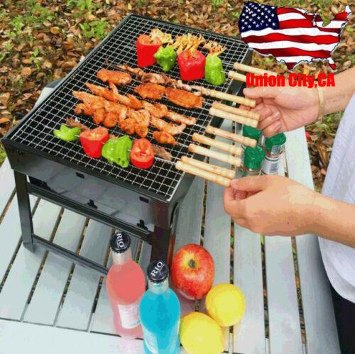 Portable Barbecue Charcoal Stove BBQ Grill Kabob Camping Pic