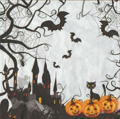 y  Halloween Fledermaus schwarze Katze Geister Kürbis Spinne (Halloween Spooky Kürbis)
