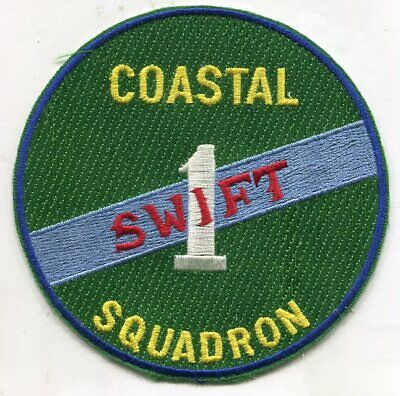 Coastal Squadron 1 Patch Swift Boat Green for sale  Shipping to South Africa