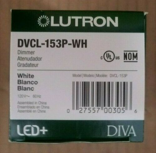 LOT of 6 Lutron DVCL-153P-WH CFL/LED DIMMER, White BRAND NEW IN BOX LOT of 6