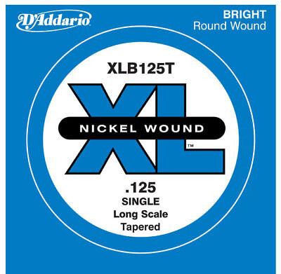 Daddario Single Guitar Strings - D'ADDARIO XLB125T SINGLE LOW 'B' NICKEL BASS STRING - .125 GAUGE, TAPERED