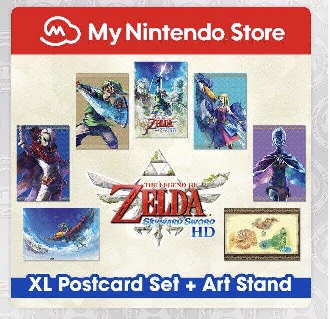Legend+Of+Zelda+Skyward+Sword+Postcard+Set+And+Art+Stand.
